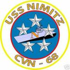 STICKER USN US NAVY CVN 68 USS NIMITZ CARRIER GROUP