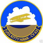 STICKER USN US NAVY CVN 63 USS KITTY HAWK CARRIER GROUP
