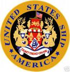 STICKER USN US NAVY CVA 66 USS AMERICA AIRCRAFT CARRIER