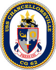 STICKER USN US NAVY CG 62 USS CHANCELLORSVILLE