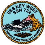 STICKER USN US NAVY 722 KEY WEST SUBMARINE