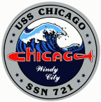STICKER USN US NAVY 721 CHICAGO SUBMARINE