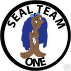 STICKER USN UNIT NAVY SEAL TEAM  1