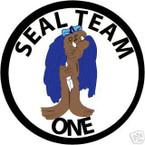 STICKER USN UNIT NAVY SEAL TEAM  1