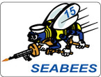 STICKER USN UNIT NAVAL CONSTRUCTION SEABEE 15