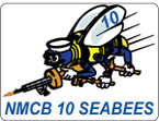 STICKER USN UNIT NAVAL CONSTRUCTION SEABEE 10