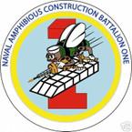 STICKER USN UNIT NAVAL AMPHIBIOUS CONSTRUCTION