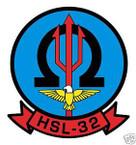STICKER USN HSL 32 HELO ANTI-SUB SQUADRON