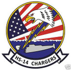 STICKER USN HS 14 HELO ANTI-SUB SQUADRON