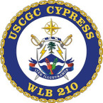 STICKER USCGC WLB 210 CYPRESS