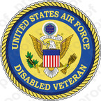 STICKER USAF VET U S AIR FORCE DISABLED VETERAN