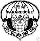 STICKER USAF VET PARARESCUE VETERAN