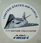 STICKER USAF VET F-117 NIGHTHAWK STEALTH FIGHTER