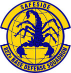 STICKER USAF  822nd Base Defense Squadron Emblem