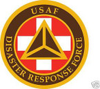 STICKER USAF DISASTER RESPONSE FORCE