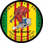 STICKER USAF Combat Civil Engineers Redhorse