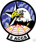 STICKER USAF Airborne Command Post - 2nd ACCS