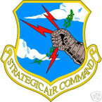 STICKER USAF AIR FORCE STRATEGIC AIR COMMAND