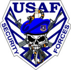 STICKER USAF Air Force Security Forces Logo