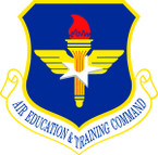STICKER USAF AIR EDUCATION N TRAINING COMMAND