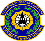 STICKER USAF 9TH SECURITY FORCES SQUADRON
