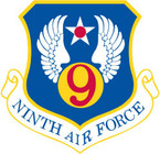 STICKER USAF 9TH AIR FORCE