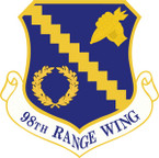STICKER USAF 98TH RANGE WING