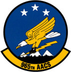STICKER USAF 965th Airborne Air Control Squadron Emblem