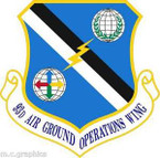 STICKER USAF 93rd Air Ground Operations Wing (ACC) Emblem