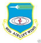 STICKER USAF 932ND AIRLIFT WING