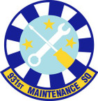 STICKER USAF 931st Maintenance Squadron Emblem