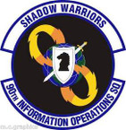 STICKER USAF 90th Information Operations Squadron Emblem