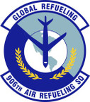 STICKER USAF 906th Air Refueling Squadron Emblem