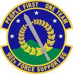 STICKER USAF 902nd Force Support Squadron Emblem