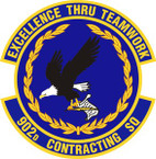 STICKER USAF 902nd Contracting Squadron Emblem