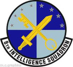 STICKER USAF 8th Intelligence
