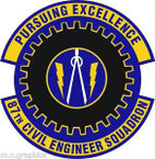 STICKER USAF 87th Civil Engineer Squadron Emblem