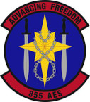 STICKER USAF 855th Air Expeditionary Squadron Emblem