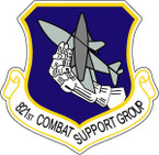 STICKER USAF 821ST COMBAT SUPPORT GROUP