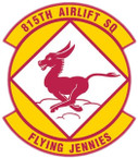 STICKER USAF 815TH AIRLIFT SQUADRON
