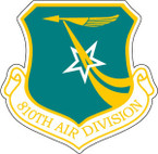 STICKER USAF 810TH AIR DIVISION