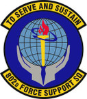 STICKER USAF 802nd Force Support Squadron Emblem