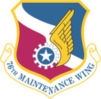 STICKER USAF 76TH MAINTENANCE WING