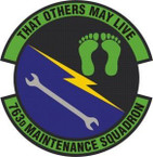 STICKER USAF 763rd Maintenance Squadron Emblem