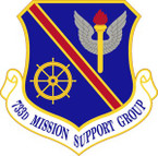 STICKER USAF 733rd Mission Support Group Emblem