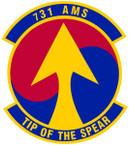 STICKER USAF 731st Air Mobility Squadron Emblem