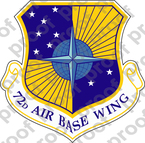 STICKER USAF 72ND AIR BASE WING