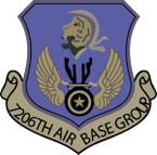 STICKER USAF 7206th Air Base Group