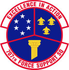 STICKER USAF 707th Force Support Squadron Emblem