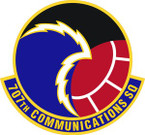 STICKER USAF 707th Communications Squadron Emblem